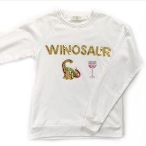 Bow & Drape • Winosaur Sequin Sweatshirt